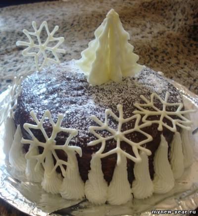 Украшение новогодних тортов фото